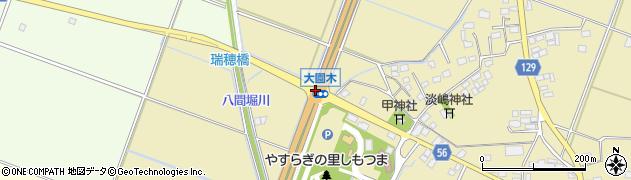 大園木周辺の地図