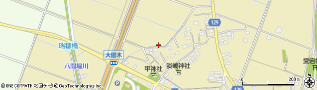 茨城県下妻市大園木周辺の地図