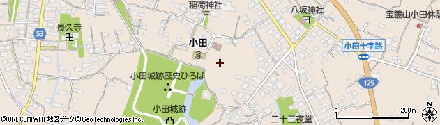 茨城県つくば市小田周辺の地図