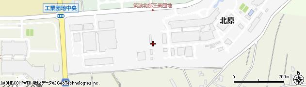 茨城県つくば市北原周辺の地図