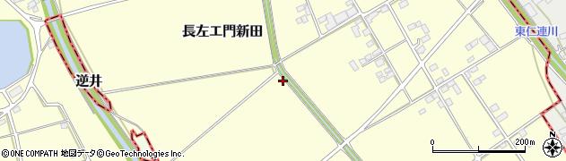 茨城県古河市長左エ門新田周辺の地図