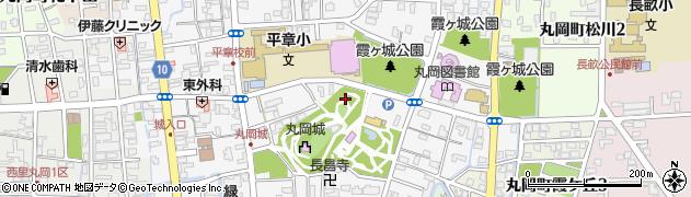 福井県坂井市丸岡町霞町周辺の地図