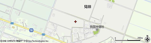 茨城県下妻市見田周辺の地図