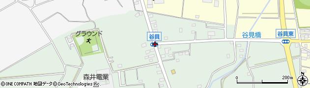 谷貝周辺の地図