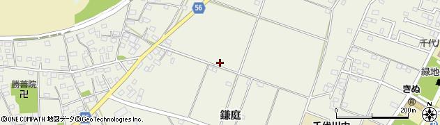 茨城県下妻市鎌庭周辺の地図