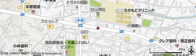 埼玉県熊谷市中央周辺の地図