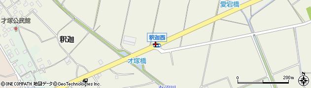釈迦西周辺の地図