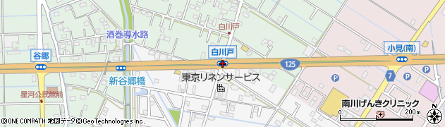 白川戸周辺の地図