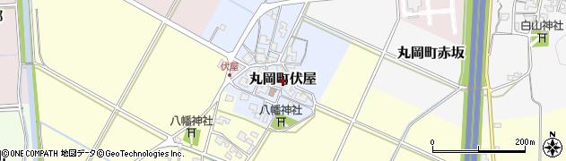 福井県坂井市丸岡町伏屋周辺の地図
