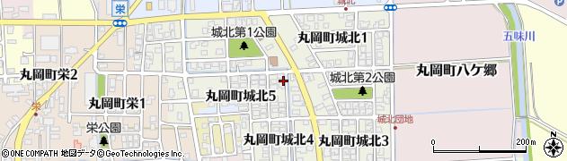 福井県坂井市丸岡町城北周辺の地図