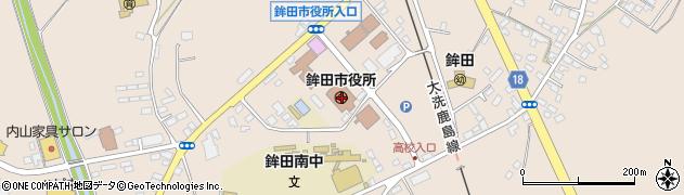 茨城県鉾田市周辺の地図