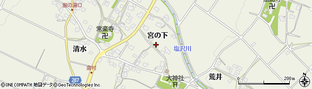 長野県松本市内田(宮の下)周辺の地図
