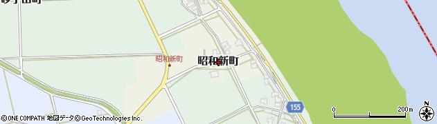 福井県福井市昭和新町周辺の地図