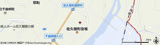 長野県南佐久郡佐久穂町周辺の地図