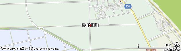 福井県福井市砂子田町周辺の地図