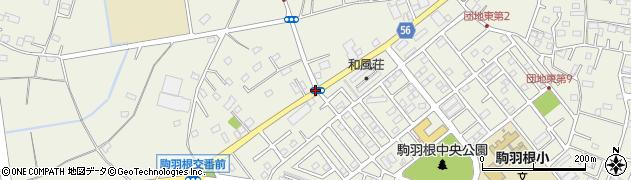 駒羽根周辺の地図