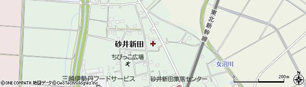 茨城県古河市砂井新田周辺の地図