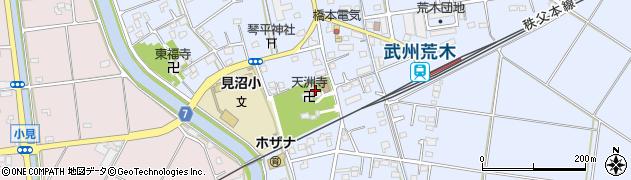 天洲寺周辺の地図