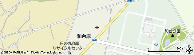 茨城県つくば市和台原周辺の地図