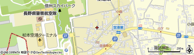 長野県松本市空港東周辺の地図