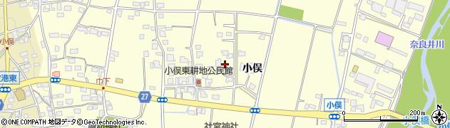 長野県松本市笹賀(小俣)周辺の地図