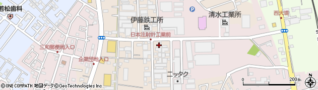沢勝寝具製綿工場周辺の地図