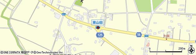 東山田周辺の地図