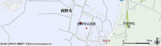 茨城県かすみがうら市西野寺周辺の地図
