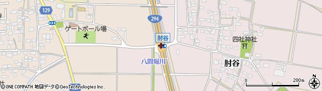 肘谷周辺の地図
