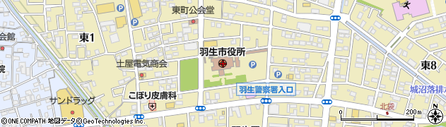 埼玉県羽生市周辺の地図