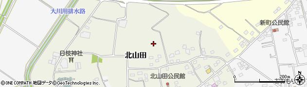 茨城県古河市北山田周辺の地図