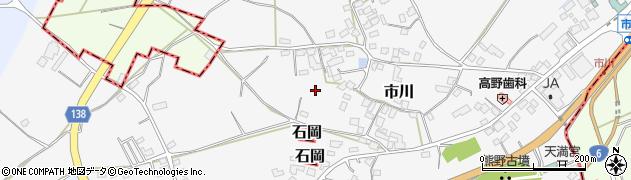茨城県かすみがうら市市川周辺の地図