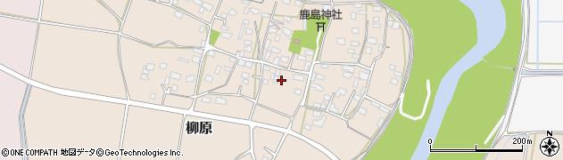 茨城県下妻市柳原周辺の地図