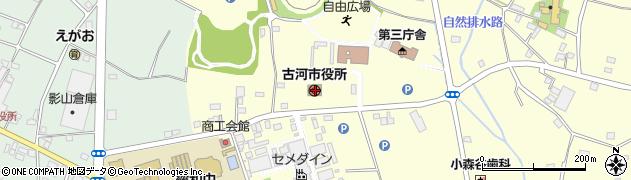 茨城県古河市周辺の地図