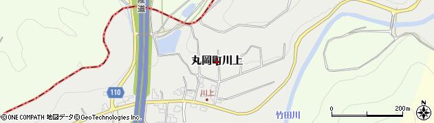 福井県坂井市丸岡町川上周辺の地図