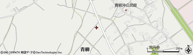 茨城県鉾田市青柳周辺の地図
