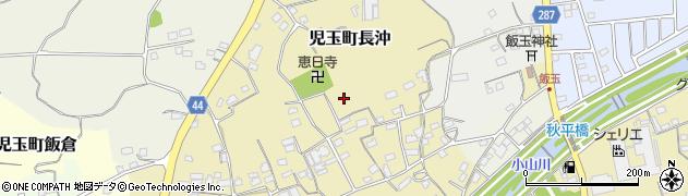 埼玉県本庄市児玉町長沖周辺の地図