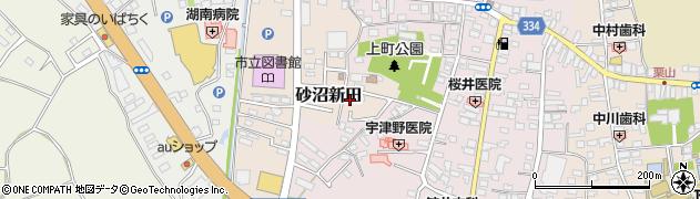 茨城県下妻市砂沼新田周辺の地図