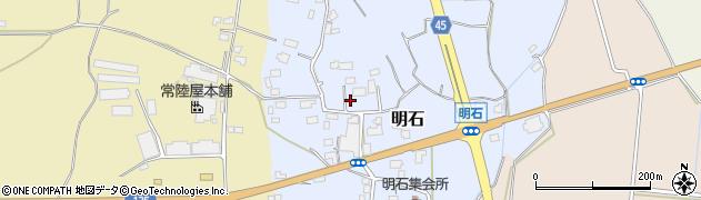 茨城県つくば市明石周辺の地図