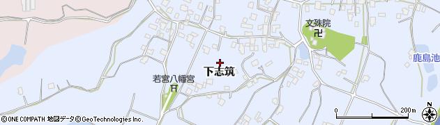 茨城県かすみがうら市下志筑周辺の地図