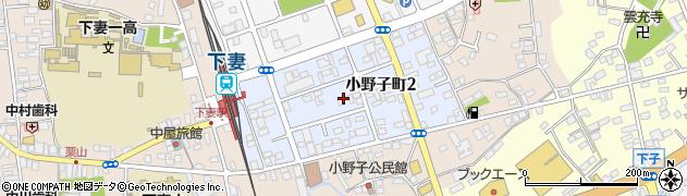 茨城県下妻市小野子町周辺の地図
