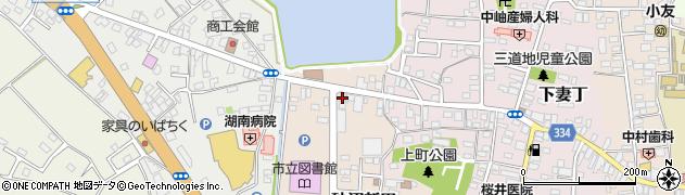 岩上ガラス店周辺の地図