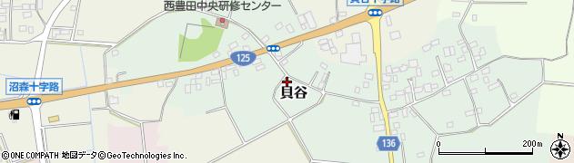 茨城県八千代町(結城郡)貝谷周辺の地図