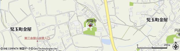 淵龍寺周辺の地図