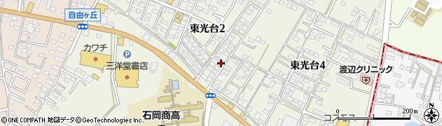 茨城県石岡市東光台周辺の地図