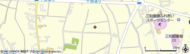 茨城県古河市仁連周辺の地図