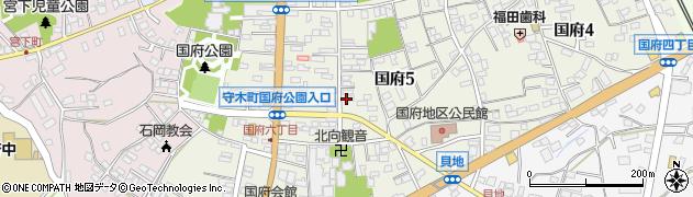 茨城県石岡市国府周辺の地図