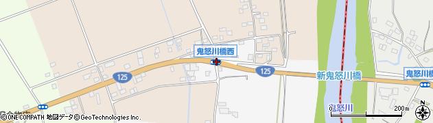 鬼怒川橋西周辺の地図