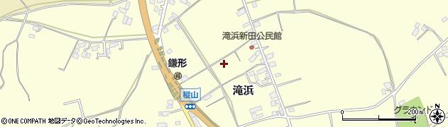 茨城県鉾田市滝浜周辺の地図