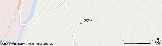 岐阜県白川村(大野郡)木谷周辺の地図